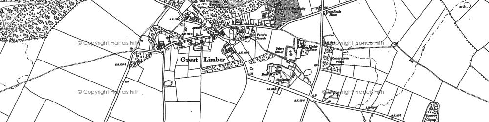 Old map of Limber Hill in 1886
