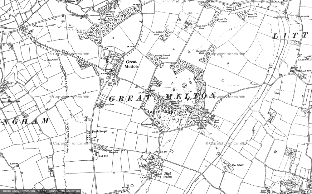 Old Maps of Great Melton Francis Frith