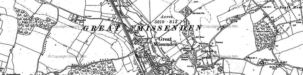 Old map of Mobwell in 1897