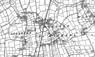 Old Map of Great Moulton, 1883