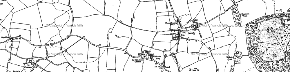 Old map of Libury Hall in 1896