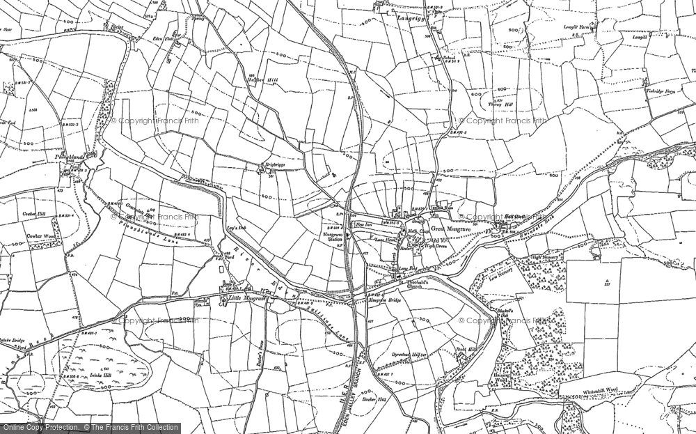 Old Map of Historic Map covering Langrigg in 1897