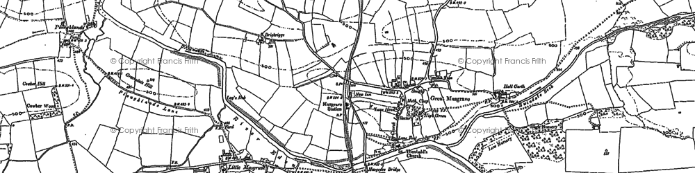 Old map of Bale Hill in 1897
