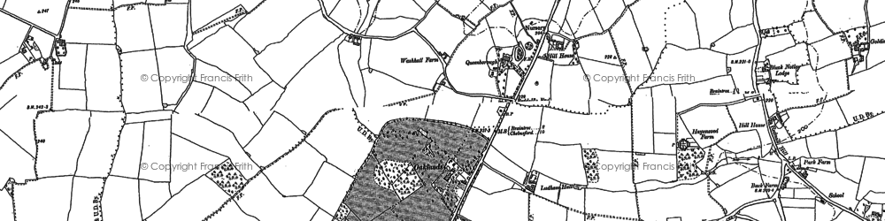 Old map of Young's End in 1886