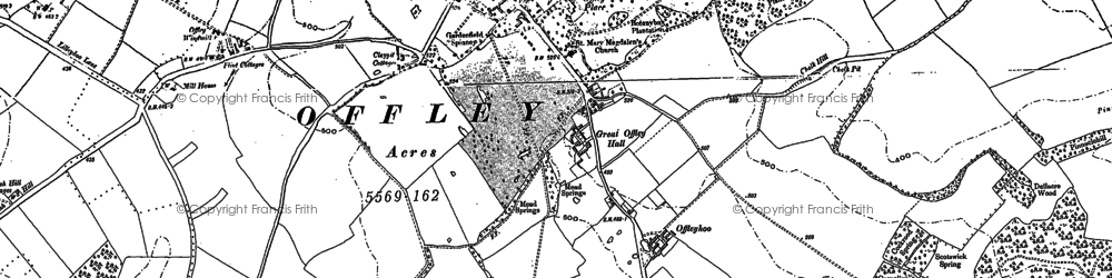 Old map of Westbury Wood in 1899