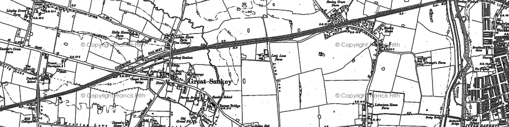 Old map of Lingley Green in 1891