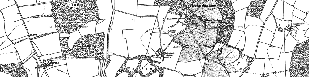 Old map of Wolfe Hall in 1883