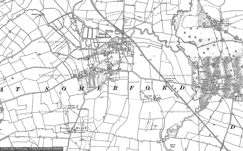 Old Map of Great Somerford, 1899 in 1899