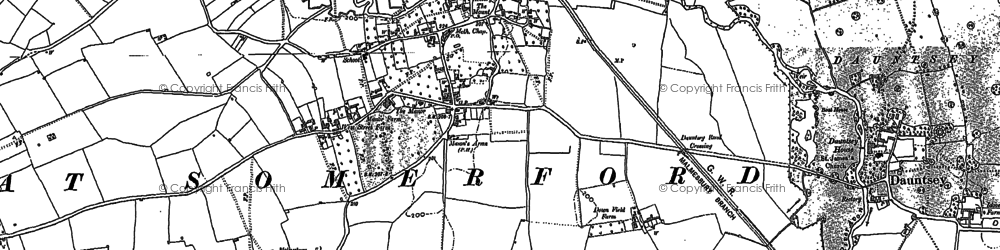 Old map of Great Somerford in 1899