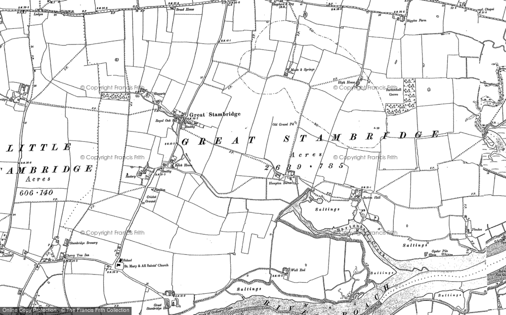 Old Map of Historic Map covering Ballards Gore in 1895