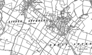 Old Map of Great Stukeley, 1885 - 1887
