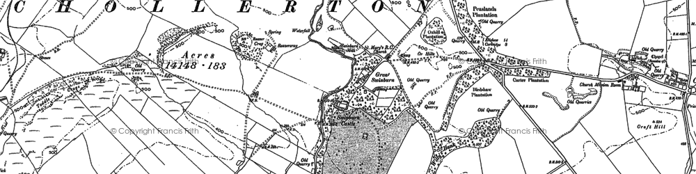 Old map of Wheathill in 1895