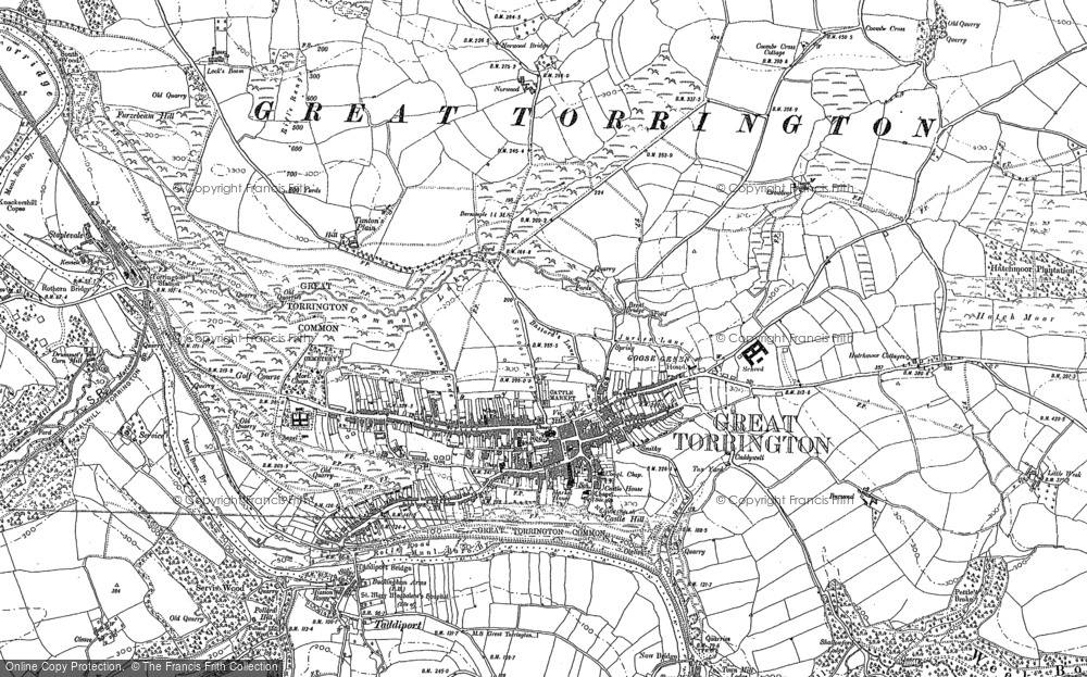 Old Map of Great Torrington, 1886 in 1886