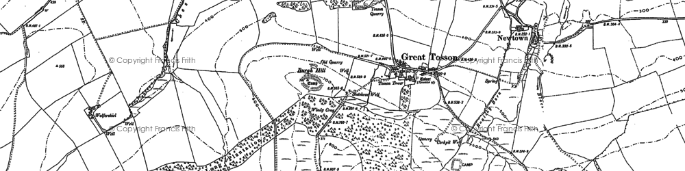 Old map of Wolfershiel in 1896