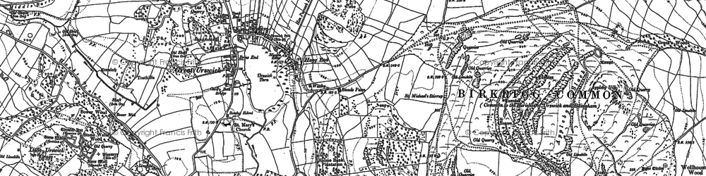 Old map of Great Urswick in 1847