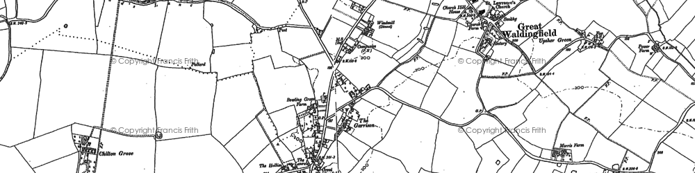 Old map of Badleys in 1885