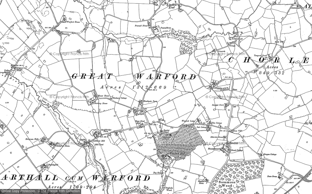 Old Map of Historic Map covering Lindow End in 1897