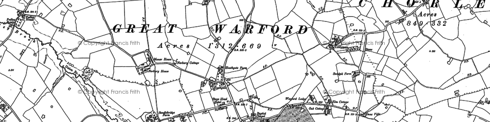 Old map of Lindow End in 1897