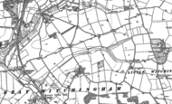 Old Map of Great Witchingham, 1882 - 1885