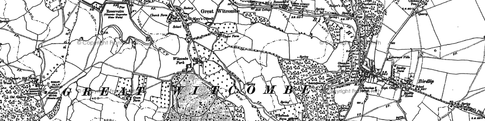 Old map of Witcombe Park in 1883