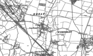 Old Map of Great Wymondley, 1896 - 1897