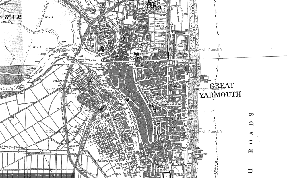 Great Yarmouth Map Old Maps of Great Yarmouth   Francis Frith