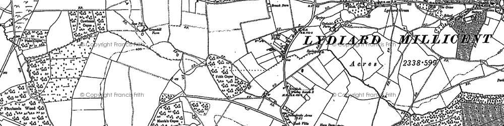 Old map of Greatfield in 1898