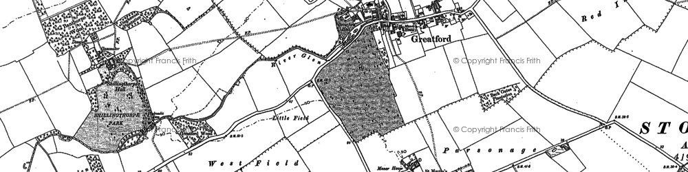Old map of Banthorpe Wood in 1886