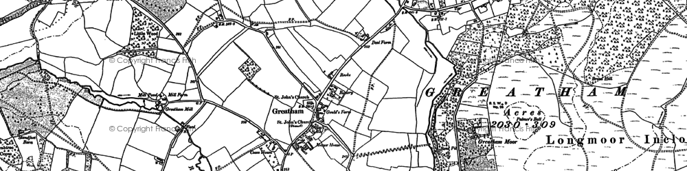 Old map of Woolmer Pond in 1908