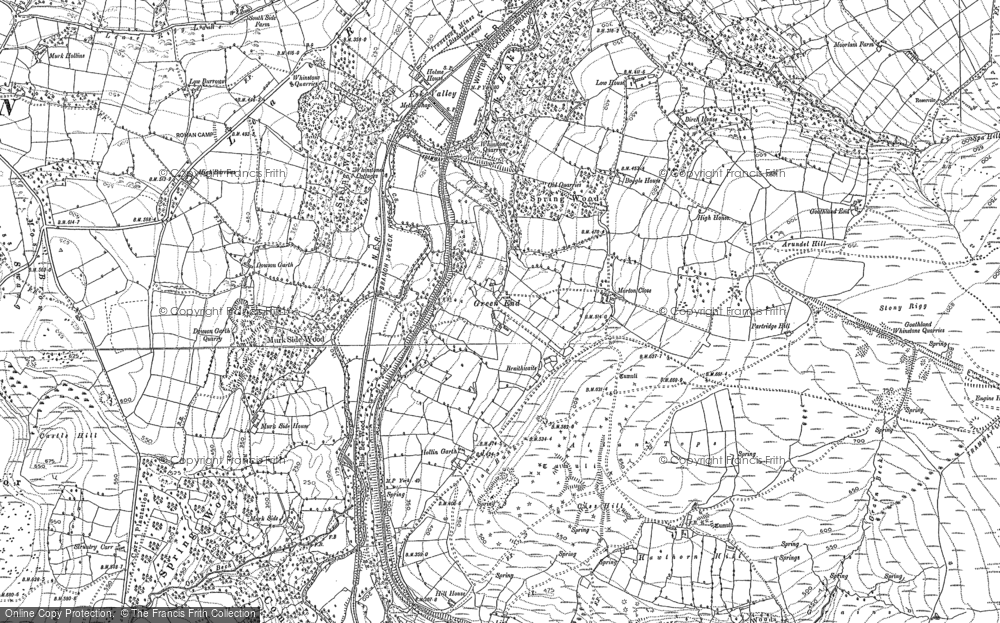 Old Map of Historic Map covering Beck Hole in 1892