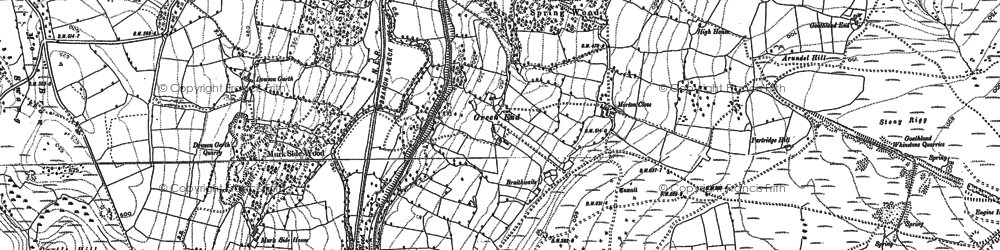 Old map of Beck Hole in 1892