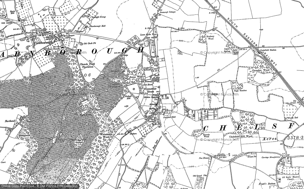 Old Map of Green Street Green, 1895 - 1908 in 1895