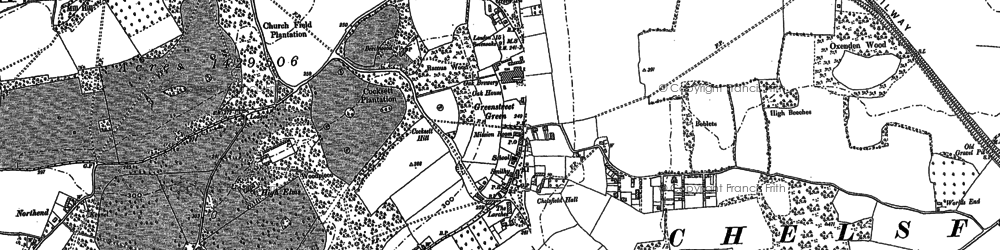 Old map of Green Street Green in 1895