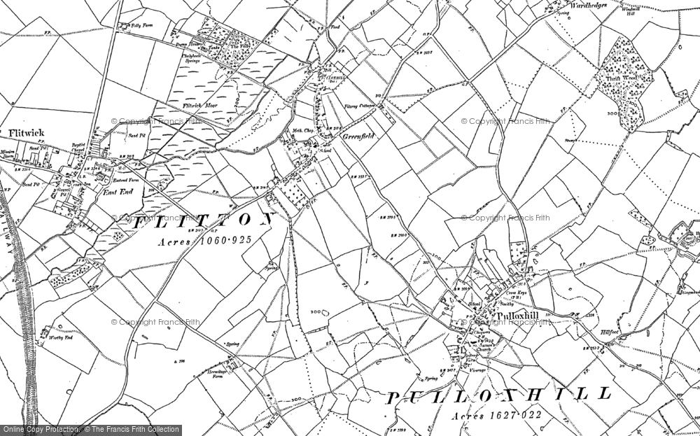 Old Map of Greenfield, 1881 in 1881