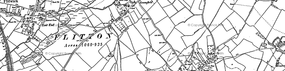 Old map of Greenfield in 1881
