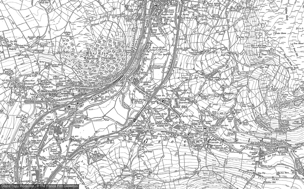 Old Map of Historic Map covering Alderman's Hill in 1904