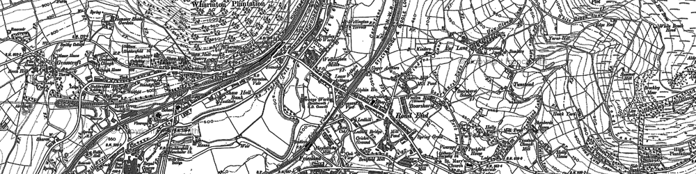 Old map of Alphin in 1904