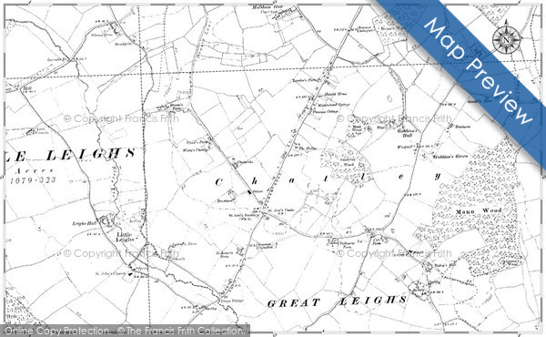 Old Map of Historic Map covering Airdriehill in 1895
