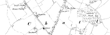Old map of Bellstane centred on your home
