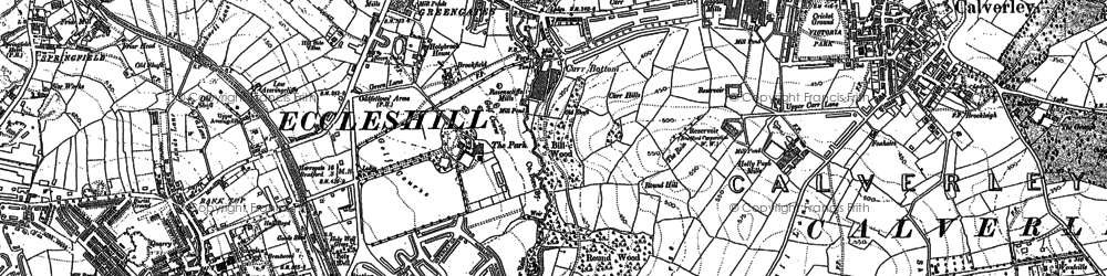 Old map of Bank Top in 1891
