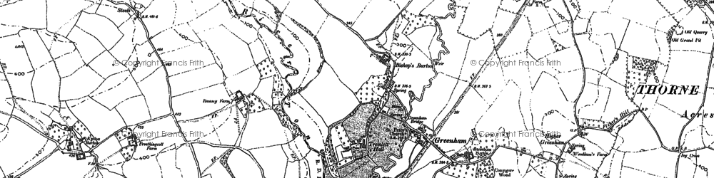 Old map of Whipcott in 1903