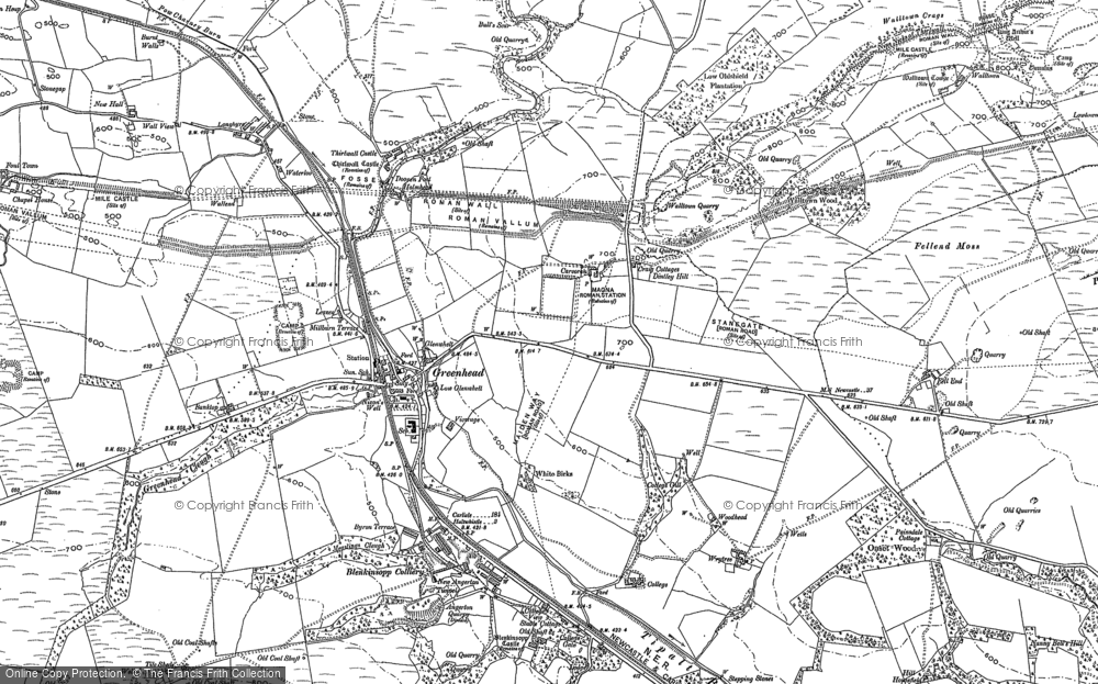 Old Map of Historic Map covering Alloa Lea in 1895