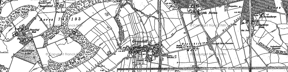 Old map of Greenhill in 1903