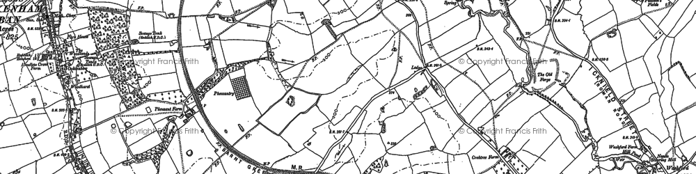 Old map of Woodrow in 1886