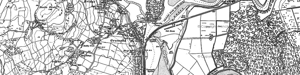 Old map of Legbarrow Point in 1911