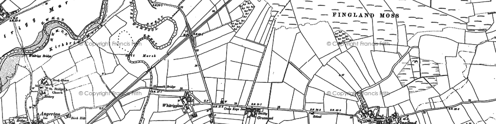 Old map of Whitrigglees Moss in 1899