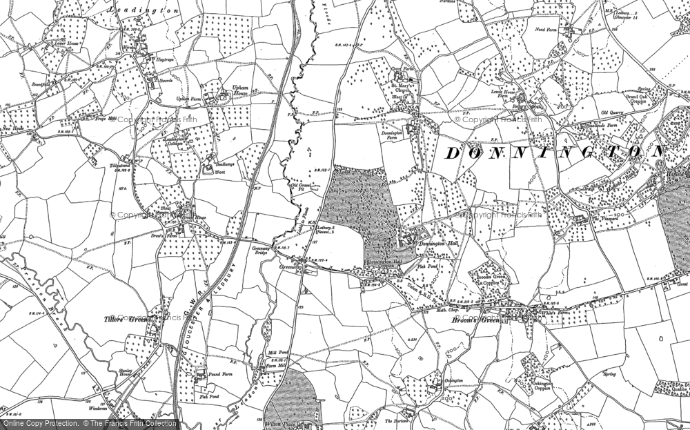 Old Map of Historic Map covering Tillputsend Cott in 1883
