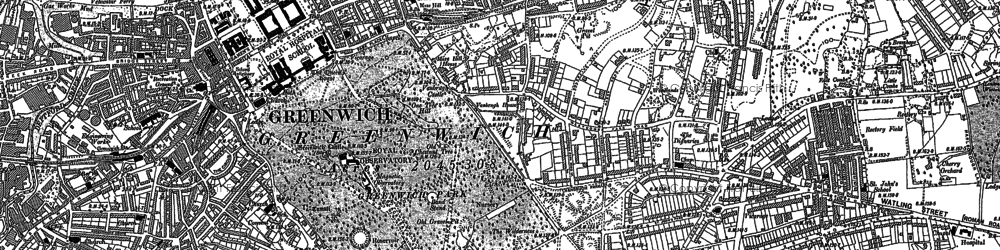 Old map of Greenwich in 1894