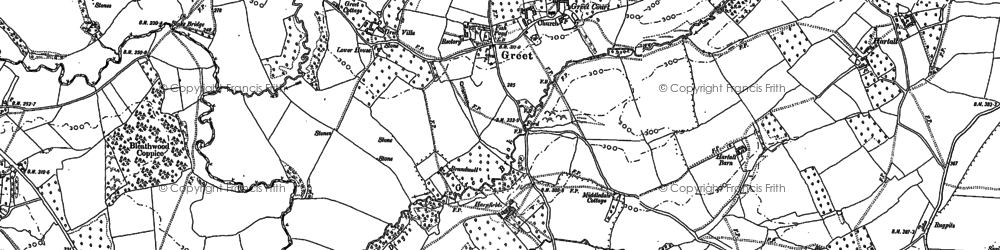 Old map of Whitton Chase in 1883