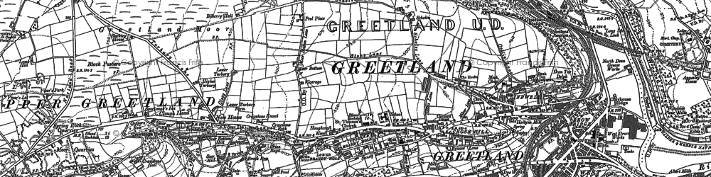 Old map of West Vale in 1892